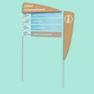 Aileron en tôle droit pour bimât - Doal concept enseignes et signalétiques en ligne