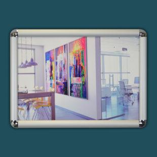 Cadreclic avec angles - cadre aux formats A4 A3 A2 A1 A0 - Doal concept enseignes et signalétiques en ligne