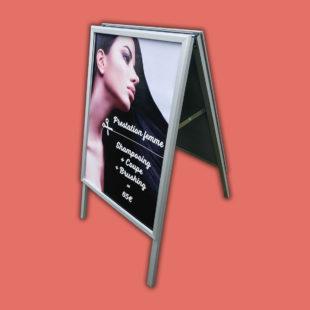 Chevalet Cadreclic sans angles en aluminium - Doal concept enseignes et signalétiques en ligne