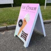 Chevalet PVC panneau de trottoir - Doal Concept enseigne et signalétique en ligne