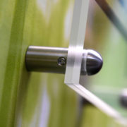 Pièces de fixations percées inox bombée pour entretoises murales - Doal concept enseignes et signalétiques en ligne