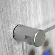 Pièces de fixations fendues alu pour entretoises murales - Doal concept enseignes et signalétiques en ligne