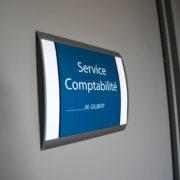 Plaques de porte curve - Doal concept enseignes et signalétiques en ligne