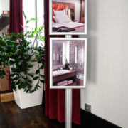 Porte affiches multi-cadres - cadres formats A4 portrait - Doal concept enseignes et signalétiques en ligne