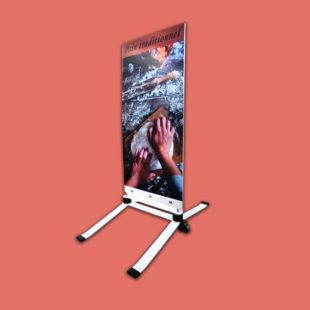 Esquiroule - panneaux de trottoir - avec 2 silent bloc - Doal concept enseignes et signalétiques en ligne