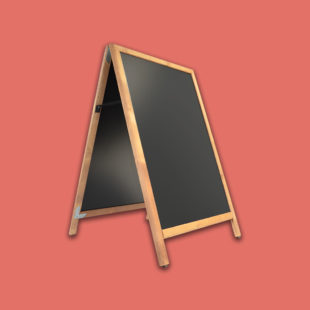Panneau ardoise de trottoir en bois - Doal concept enseignes et signalétiques en ligne