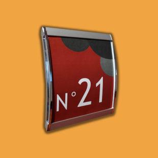 Plaque de porte chrome - Doal concept enseignes et signalétiques en ligne