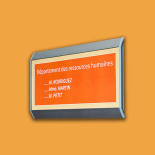 Plaque de porte flat - Doal concept enseignes et signalétiques en ligne