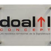 Plaque diamant entretoise murale - Doal Concept enseigne et signalétique en ligne