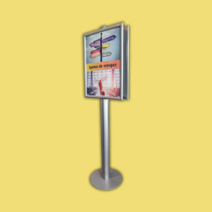 Porte affiches sur pied double face - format A4 - Doal concept enseignes et signalétiques en ligne