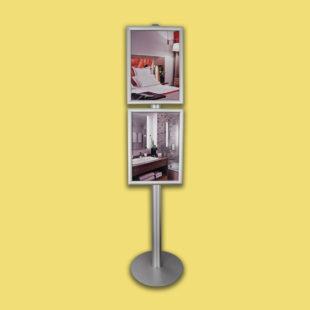 Porte affiches sur pied multi cadres - format A4 - Doal concept enseignes et signalétiques en ligne