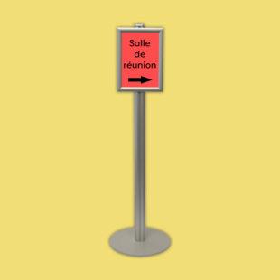 Porte affiche sur pied simple face - format A4 - Doal concept enseignes et signalétiques en ligne