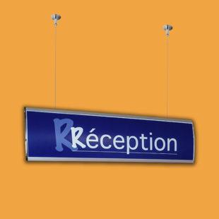 Suspension plafond chrome - Doal concept enseignes et signalétiques en ligne