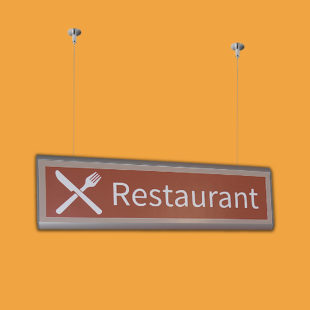 Suspension plafond flat - Doal concept enseignes et signalétiques en ligne