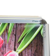 Chevalet cadreclic sans angles, double face en aluminium - Doal concept enseignes et signalétiques en ligne