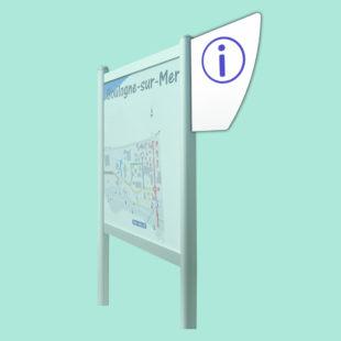 Blason droit - accessoire pour bi-mât - Doal concept enseignes et signalétiques en ligne