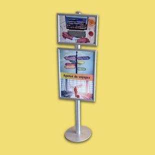 Porte affiches sur pied multi cadres mixte - format A4 portrait ou paysage - Doal concept enseignes et signalétiques en ligne