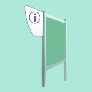Blason gauche - accessoire pour bi-mât - Doal concept enseignes et signalétiques en ligne