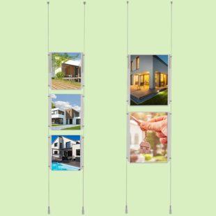 Kit de fixation en aluminium pour sol plafond - Doal concept enseignes et signalétiques en ligne