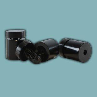 Pièces de fixations percées aluminium noire - Doal concept enseignes et signalétiques en ligne