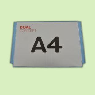 Porte affiche horizontal en plexiglas, format A4, A3, A2, A1 - Doal concept enseignes et signalétiques en ligne