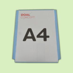 Porte affiche vertical en plexiglas, format A4, A3, A2, A1 - Doal concept enseignes et signalétiques en ligne