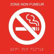 Picto zone non-fumeur plaques de porte braille – Doal concept enseignes et signalétiques en ligne
