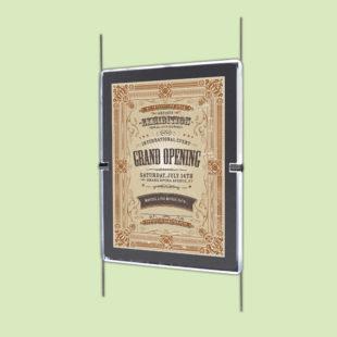 Porte affiches LED vertical - Doal concept enseignes et signalétiques en ligne