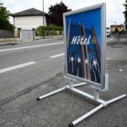 Doal Concept - panneau cadreclic stop trottoir pour enseigne extérieure