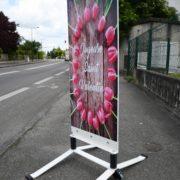 Esquiroule - panneaux de trottoir - avec deux ressorts - Doal concept enseignes et signalétiques en ligne